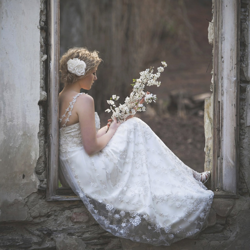 My Wedding Shoot in Queenstown ruins