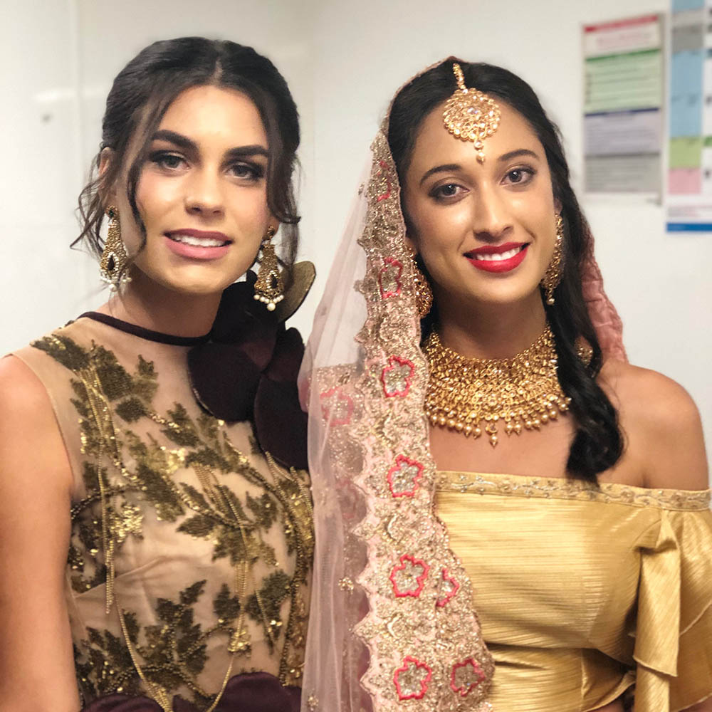 Hair and Makeup for mixed Asian Weddings